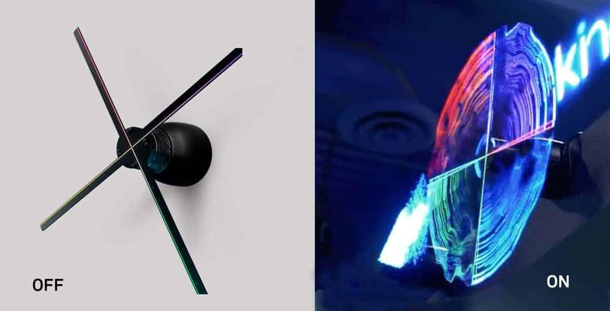 Neon Gold Innovations Blog HYPERVSN 3D Hologramm Rotor